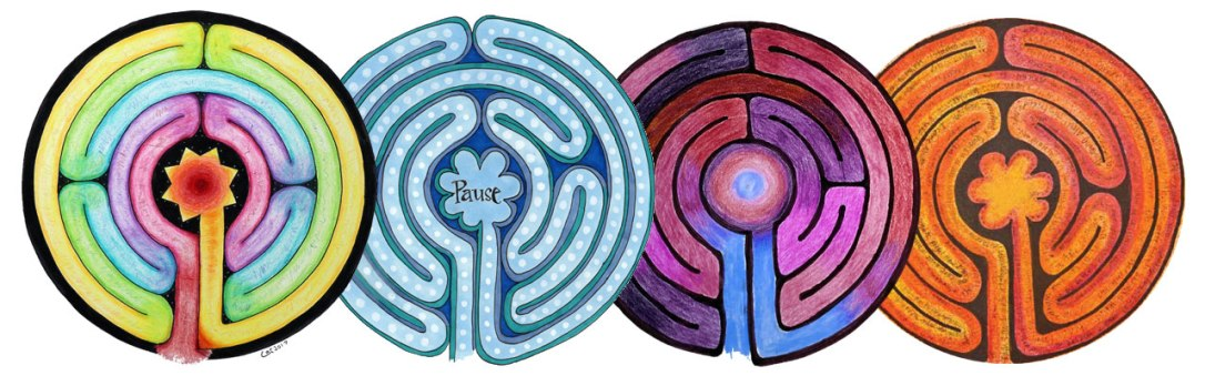 Awaken your creativity and reflect on your life's path in the Labyrinth Mandala Art Lesson.