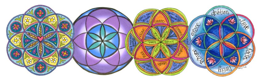 Reflect on the many circles in your life in the Seed of Life Sacred Geometry Mandala Art Lesson.