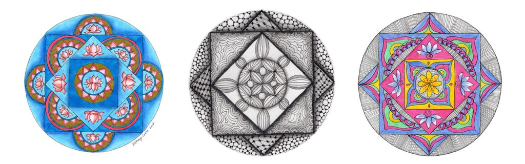 Squares are often found in traditional mandala art used for mediation. Find your balance and get grounded in the Squaring the Circle Mandala Art Lesson.