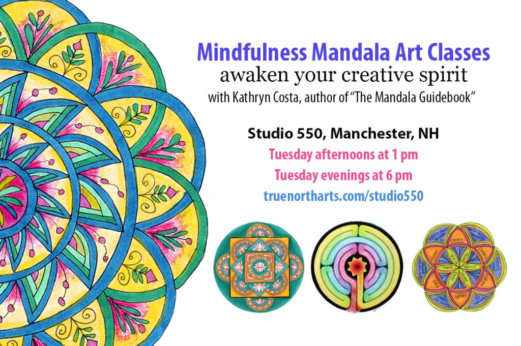 5c023b0a0 I am so thrilled to announce that I have found a spot right here in my home  city of Manchester, NH to offer mandala art classes on a regular basis.  Studio ...