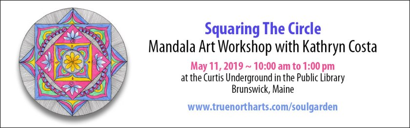 Get grounded and centered creating the Squaring the Circle Mandala.