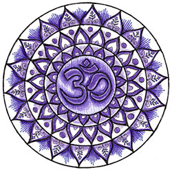Crown Chakra Mandala Art created using the crown chakra stencil by StencilGirl Products