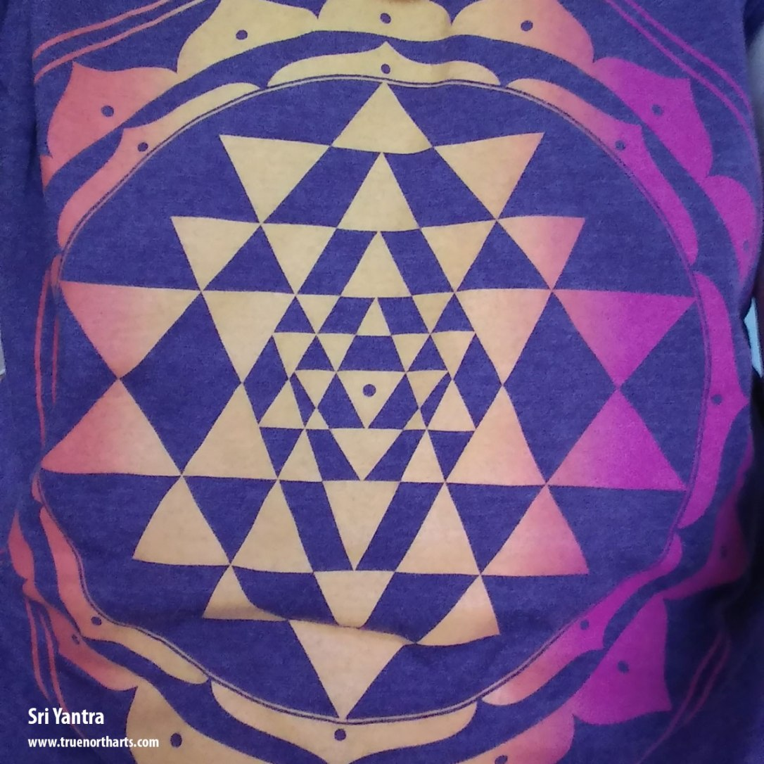 Sri Yantra represents divine beauty as it is the balance of heavens and earth, the masculine and feminine.