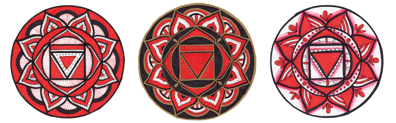Create Root Chakra Mandala Art to feel centered and grounded.