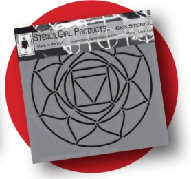 Root Chakra Stencil - Quickly and easily draw the root chakra mandala using a stencil designed by Kathryn Costa for StencilGirl Products.