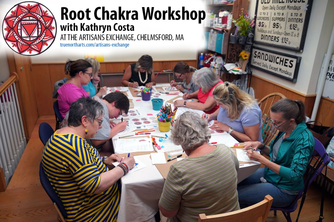 A peek at the Root Chakra Workshop at the Artisans Exchange.