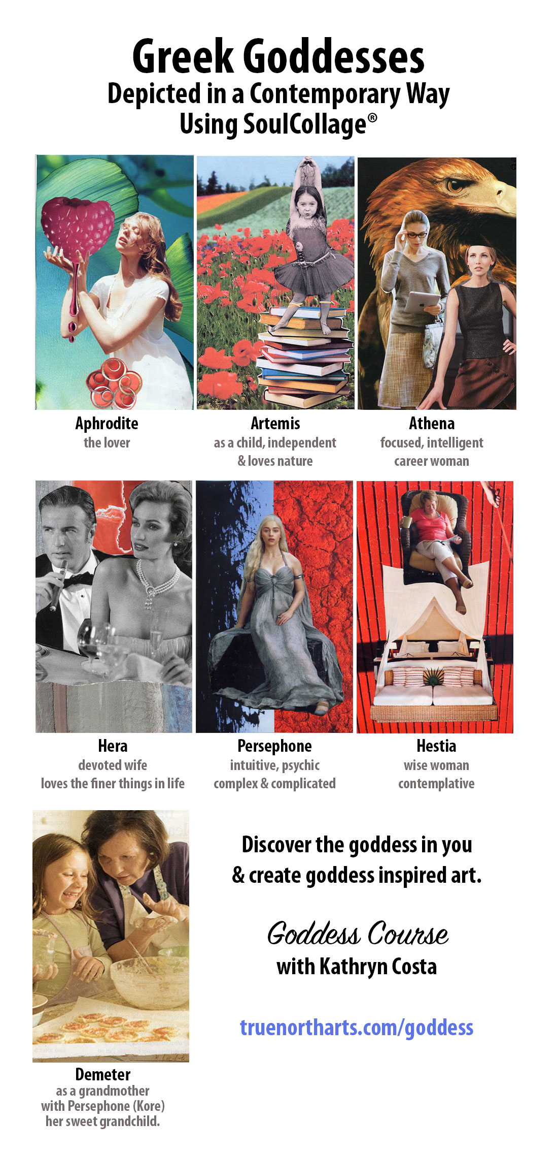 Greek Goddesses come to life in SoulCollage cards. Which goddess are you?