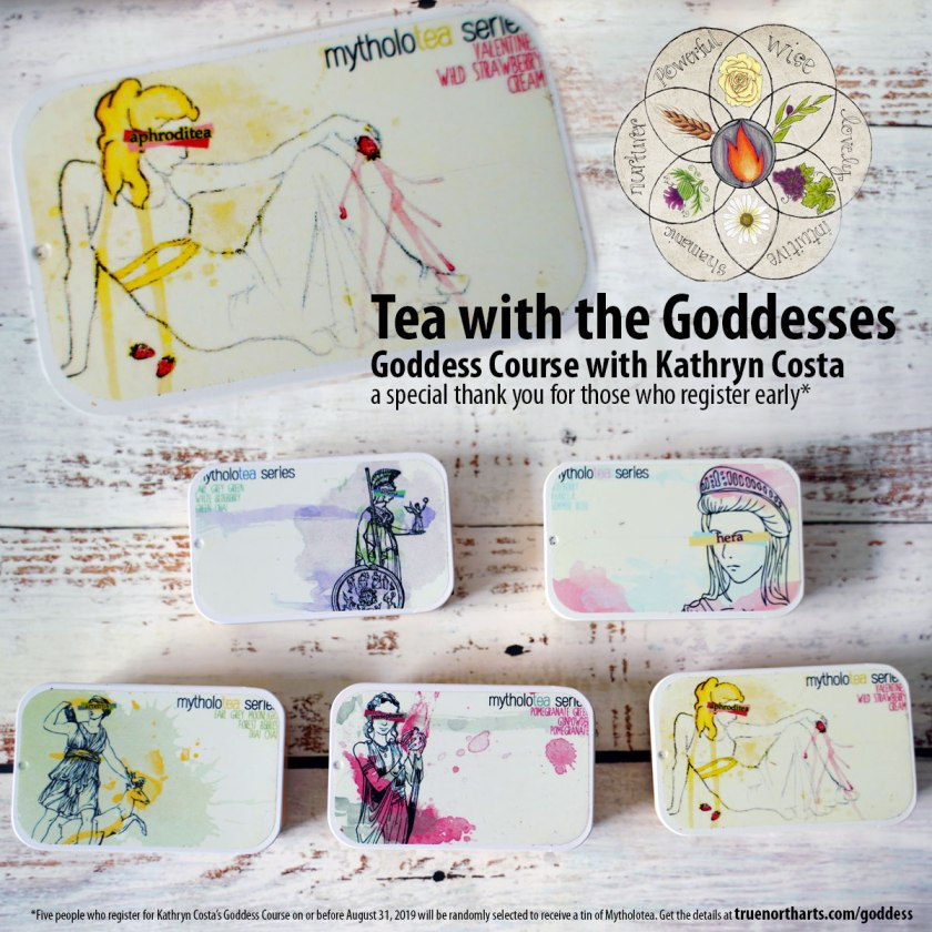 Let's have tea with the goddesses. Sign up before August 31st to enter into the random drawing to receive one of these delightful myth inspired teas.